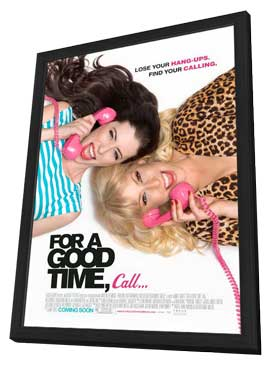 For a Good Time, Call� - 27 x 40 Movie Poster - Style A - in Deluxe Wood Frame