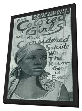 For Colored Girls Who Have Considered Suicide/When the Rainbow is Enuf (Broadway) - 14 x 22 Poster - Style A - in Deluxe Wood Frame