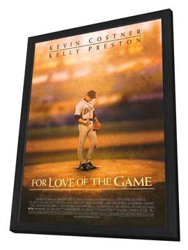 For Love of the Game - 27 x 40 Movie Poster - Style A - in Deluxe Wood Frame