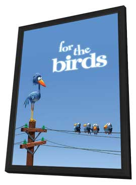 For The Birds - 27 x 40 Movie Poster - Style A - in Deluxe Wood Frame
