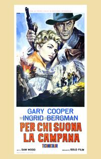 For Whom the Bell Tolls - 27 x 40 Movie Poster - Italian Style A