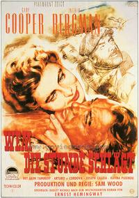 For Whom the Bell Tolls - 27 x 40 Movie Poster - German Style A