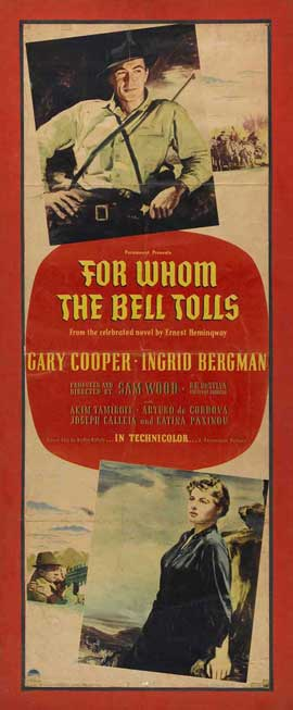 For Whom the Bell Tolls - 14 x 36 Movie Poster - Insert Style A