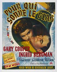 For Whom the Bell Tolls - 11 x 17 Movie Poster - Belgian Style A