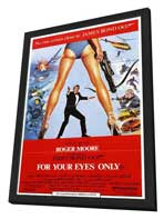 For Your Eyes Only - 11 x 17 Movie Poster - Style B - in Deluxe Wood Frame