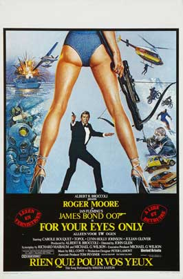 For Your Eyes Only - 11 x 17 Movie Poster - Belgian Style A