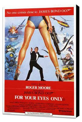 For Your Eyes Only - 11 x 17 Movie Poster - Style B - Museum Wrapped Canvas