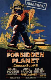 Forbidden Planet - 43 x 62 Movie Poster - Bus Shelter Style C