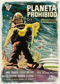 Forbidden Planet - 43 x 62 Movie Poster - Spanish Style A