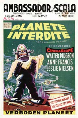 Forbidden Planet - 27 x 40 Movie Poster - Belgian Style A