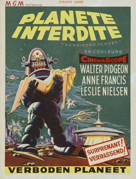 Forbidden Planet - 27 x 40 Movie Poster - French Style A