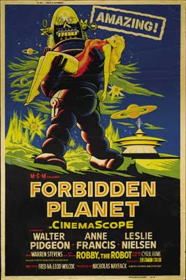 Forbidden Planet - 43 x 62 Movie Poster - Bus Shelter Style E