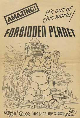 Forbidden Planet - 11 x 17 Movie Poster - Style J