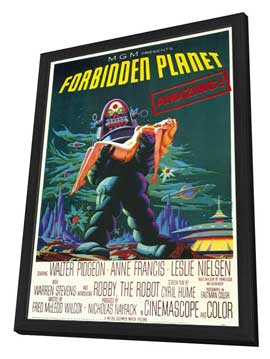 Forbidden Planet - 11 x 17 Movie Poster - Style A - in Deluxe Wood Frame