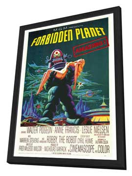 Forbidden Planet - 27 x 40 Movie Poster - Style A - in Deluxe Wood Frame