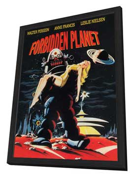 Forbidden Planet - 27 x 40 Movie Poster - Style D - in Deluxe Wood Frame