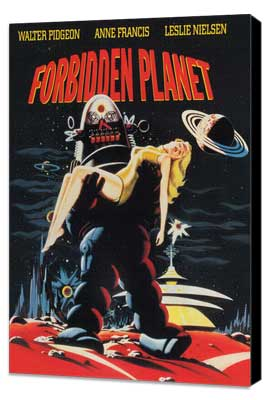 Forbidden Planet - 11 x 17 Movie Poster - Style D - Museum Wrapped Canvas