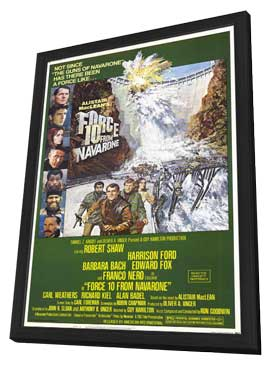 Force 10 from Navarone - 11 x 17 Movie Poster - Style A - in Deluxe Wood Frame
