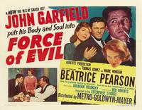 Force of Evil - 11 x 17 Movie Poster - Style B
