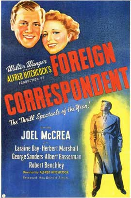 Foreign Correspondent - 11 x 17 Movie Poster - Style A