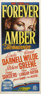 Forever Amber - 13 x 30 Movie Poster - Australian Style A