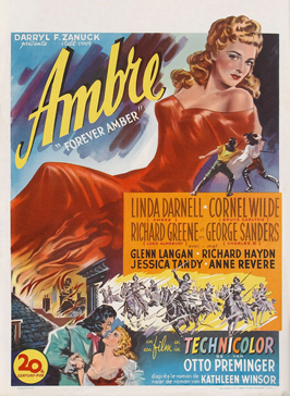 Forever Amber - 11 x 17 Movie Poster - Belgian Style A