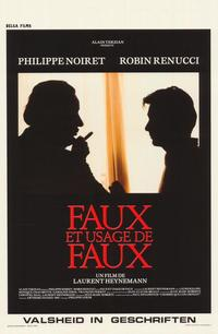 Forgery and the Use of Forgeries - 11 x 17 Movie Poster - Belgian Style A