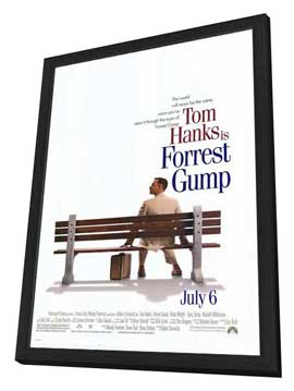 Forrest Gump - 27 x 40 Movie Poster - Style A - in Deluxe Wood Frame