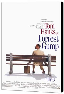 Forrest Gump - 27 x 40 Movie Poster - Style A - Museum Wrapped Canvas