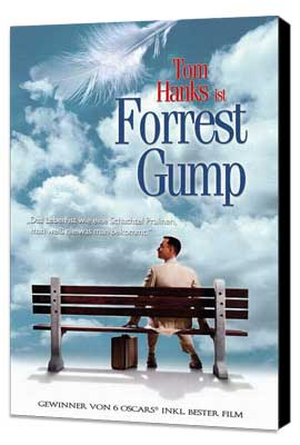 Forrest Gump - 27 x 40 Movie Poster - German Style A - Museum Wrapped Canvas