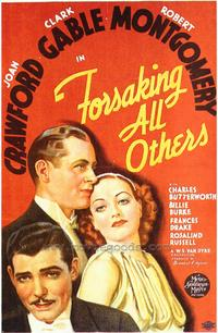 Forsaking All Others - 43 x 62 Movie Poster - Bus Shelter Style A