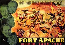 Fort Apache - 11 x 17 Movie Poster - Spanish Style A