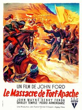 Fort Apache - 11 x 17 Movie Poster - French Style A