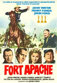 Fort Apache - 11 x 17 Movie Poster - Spanish Style B