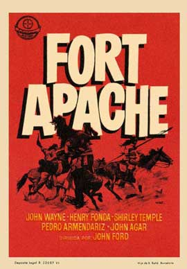 Fort Apache - 27 x 40 Movie Poster - Spanish Style C