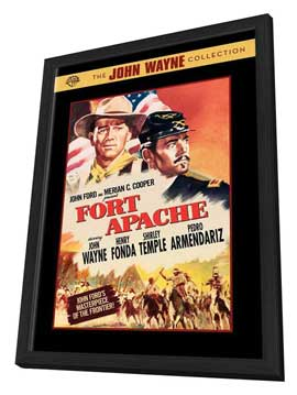 Fort Apache - 11 x 17 Movie Poster - Style B - in Deluxe Wood Frame