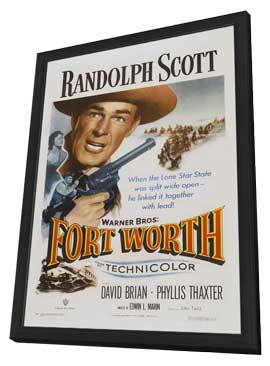 Fort Worth - 11 x 17 Movie Poster - Style A - in Deluxe Wood Frame
