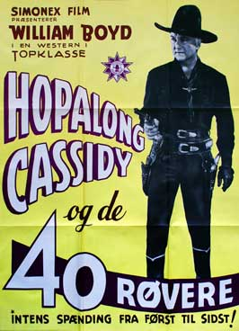 Forty Thieves - 27 x 40 Movie Poster - Danish Style A