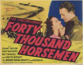 Forty Thousand Horsemen - 11 x 14 Movie Poster - Style A