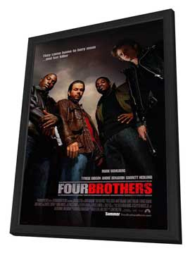 Four Brothers - 27 x 40 Movie Poster - Style B - in Deluxe Wood Frame