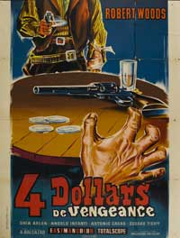 Four Dollars for Vengeance - 11 x 17 Movie Poster - French Style A