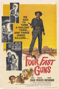 Four Fast Guns - 27 x 40 Movie Poster - Style A