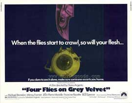 Four Flies on Grey Velvet - 11 x 14 Movie Poster - Style A