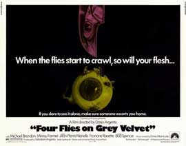 Four Flies on Grey Velvet - 22 x 28 Movie Poster - Half Sheet Style A