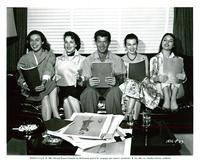 Four Girls in Town - 8 x 10 B&W Photo #1
