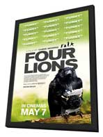 Four Lions - 27 x 40 Movie Poster - UK Style A - in Deluxe Wood Frame