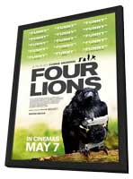 Four Lions - 11 x 17 Movie Poster - UK Style A - in Deluxe Wood Frame