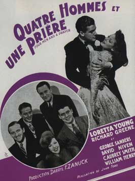 Four Men and a Prayer - 11 x 17 Movie Poster - French Style A