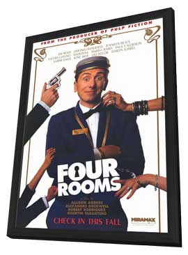 Four Rooms - 11 x 17 Movie Poster - Style B - in Deluxe Wood Frame