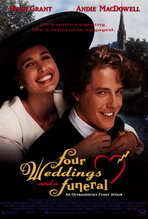 Four Weddings and a Funeral - 27 x 40 Movie Poster - Style A